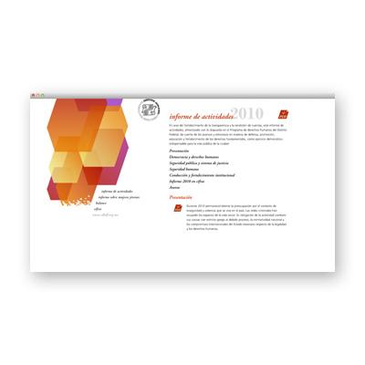 Sitio web - CDHDF