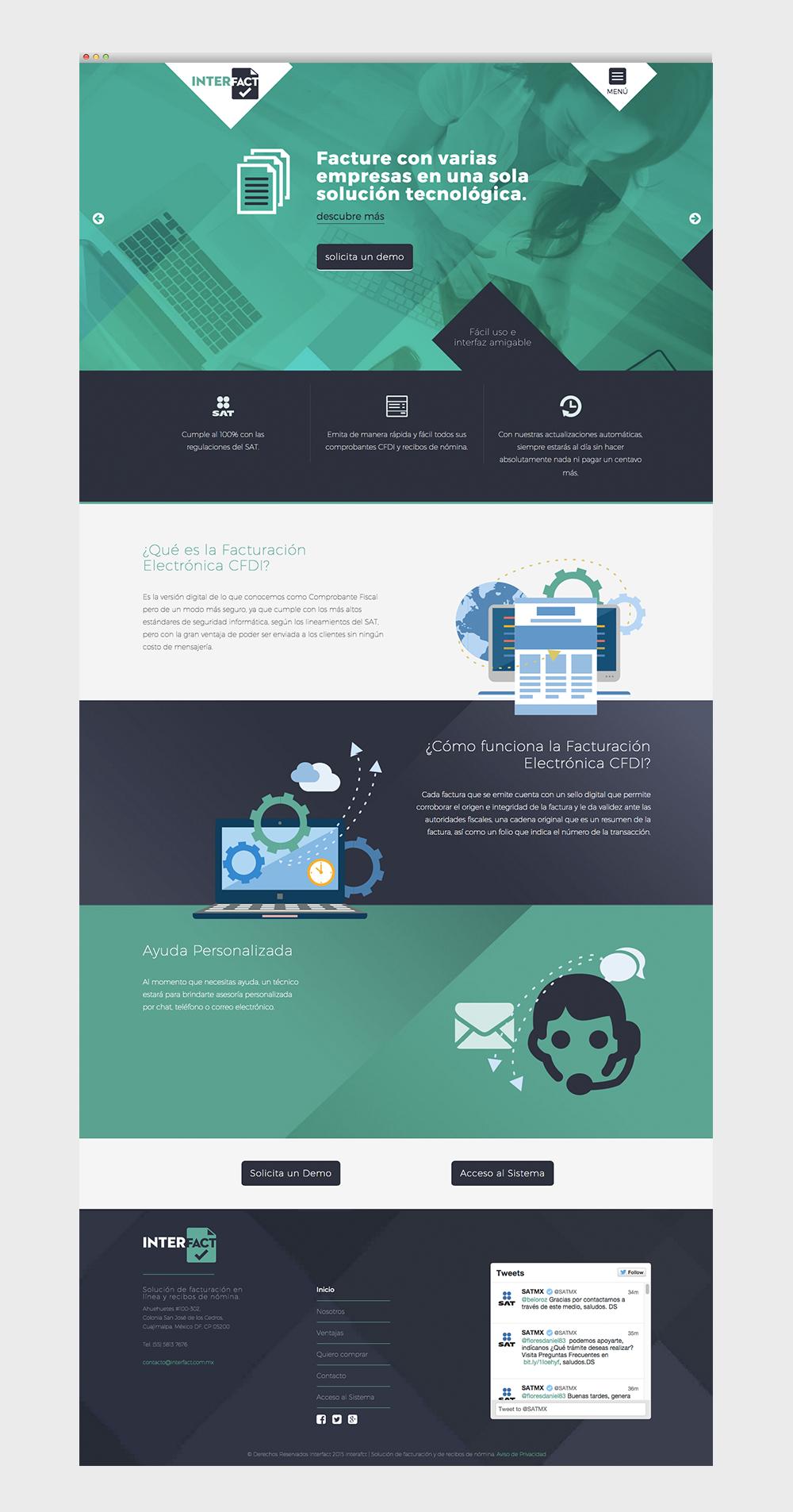 Diseño y desarrollo de sitio web Interfact