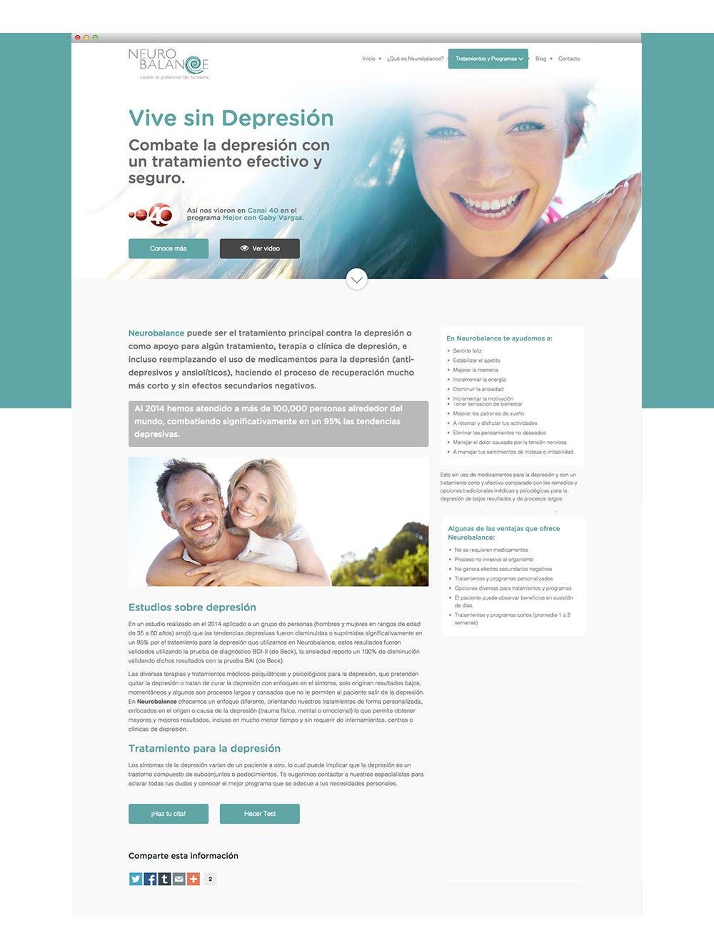 diseño web, diseño gráfico, cozar - proyectos - neurobalance