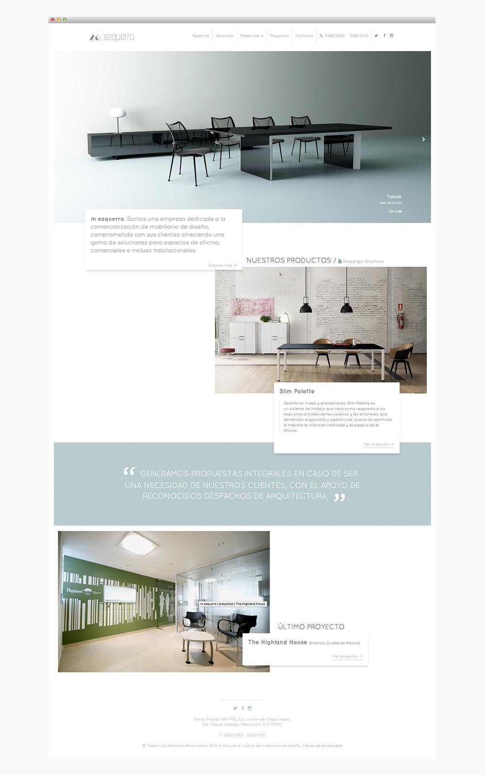 sitio web mezquero | home