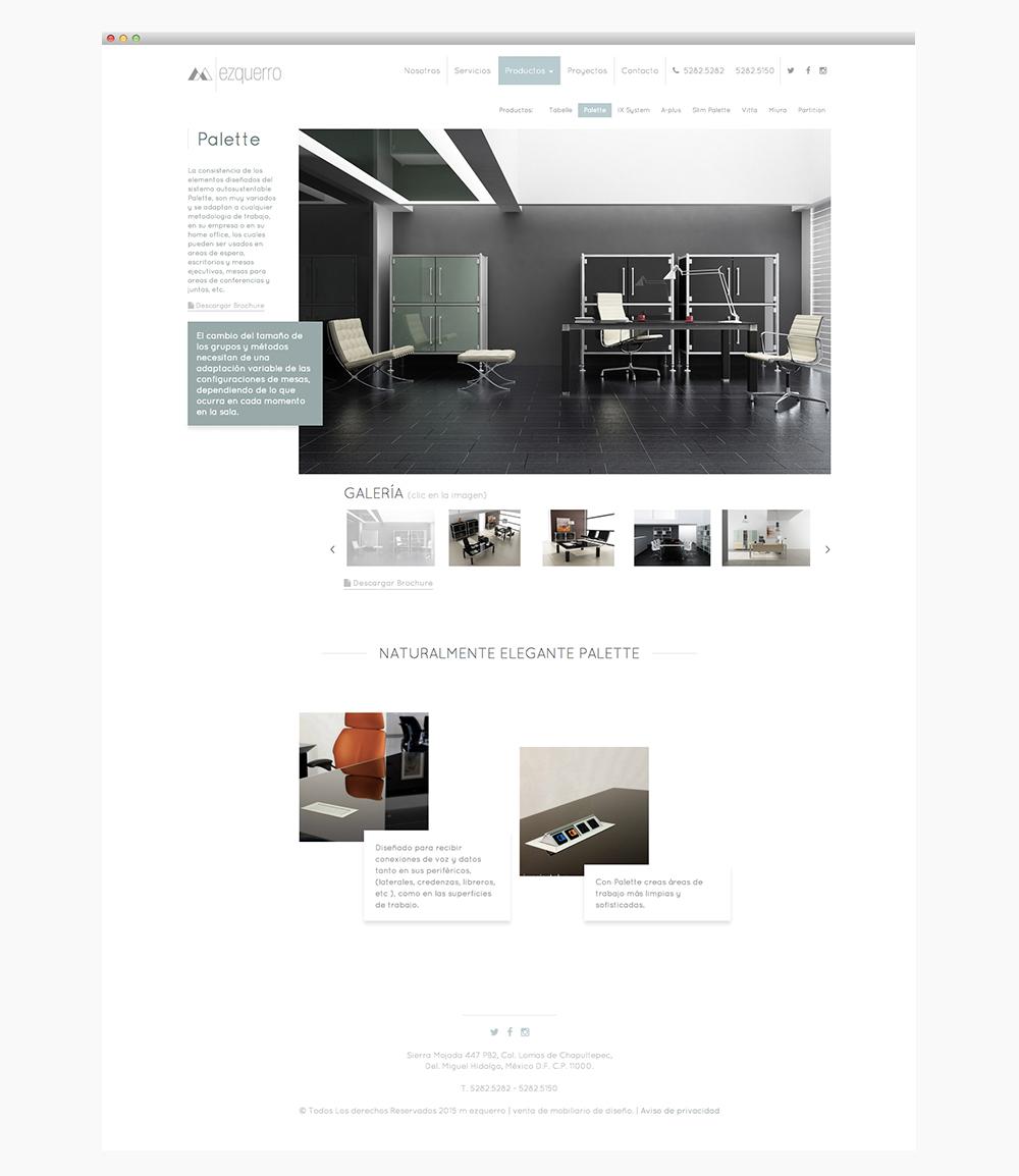 sitio web mezquero | productos